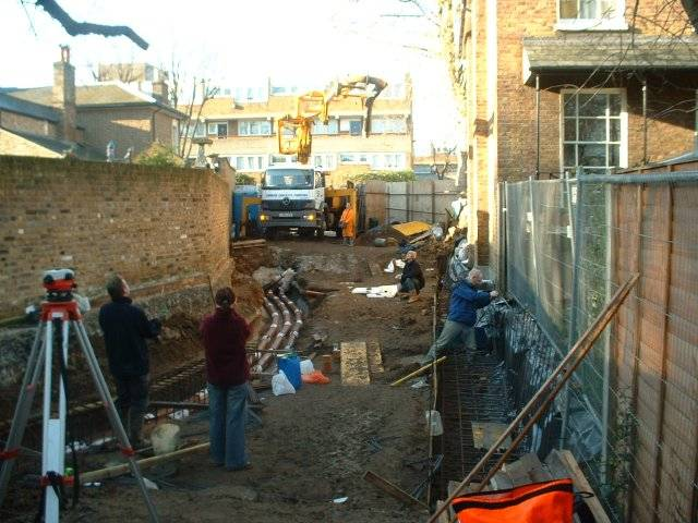 0730 - friends all grafting away, nearly all rebar in place and 12 tons of concrete due shortly.