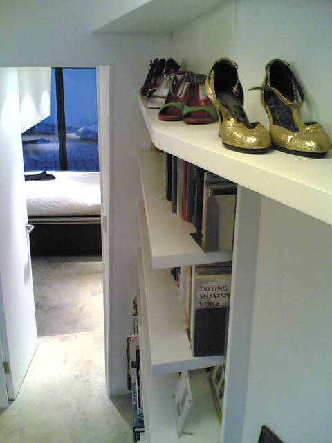 shelving in main space.