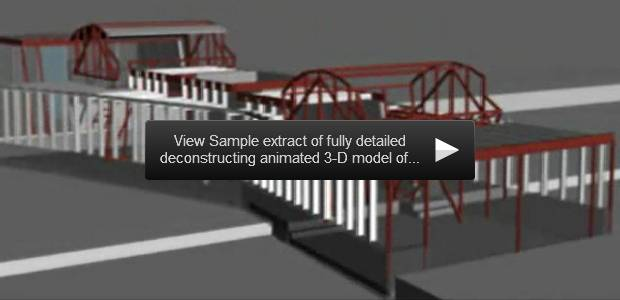 view sample extract of fully detailed deconstructing animated 3-d model of the house...