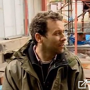 monty ravenscroft and the famous sliding glass roofs on grand designs south london house with kevin mccloud. read more about monty.