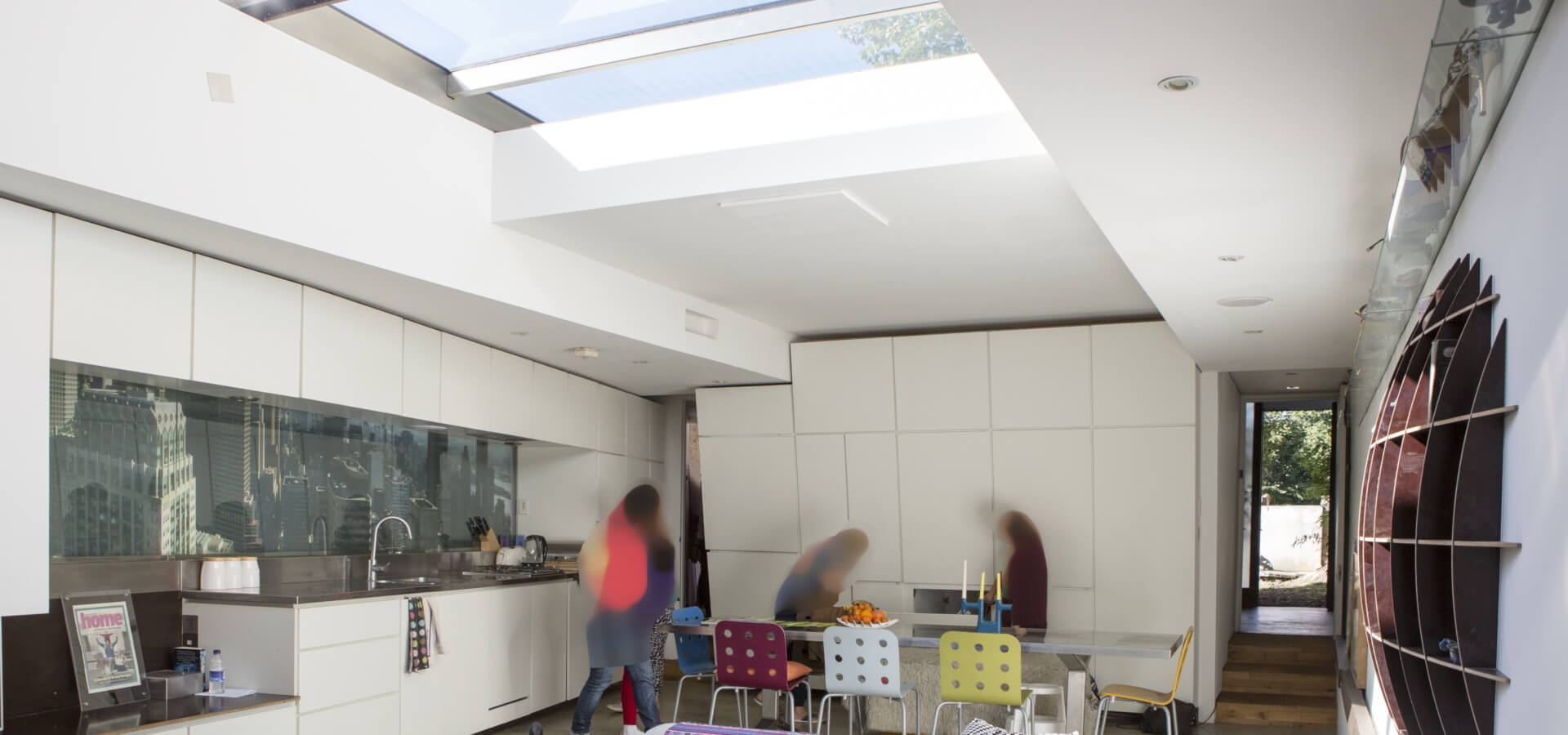 peckham house seen on channel 4 grand designs dvd with kevin mccloud, project of the experimental house built by monty ravenscroft with glass sliding roof